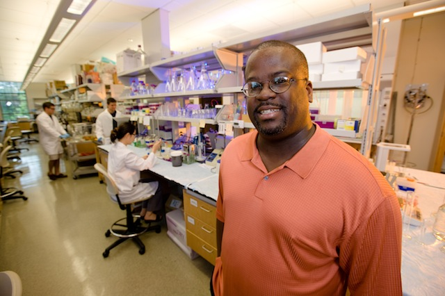 Paul Adams, associate professor of chemistry and biochemistry, University of Arkansas. Photo by Russell Cothren.