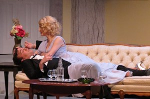 Maggie Ferran and Kieran Cronin in Noel Coward&#39;s &quot;Blithe Spirit.&quot;