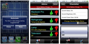 An iPhone-based recommendation system uses information collected by the measurement system to provide users with advice regarding energy consumption, including warnings in advance of critical battery situations, recommendations for the best times to execute high-power tasks such as running a clothes dryer, and opportunities to adjust the power states of devices to reduce energy consumption.