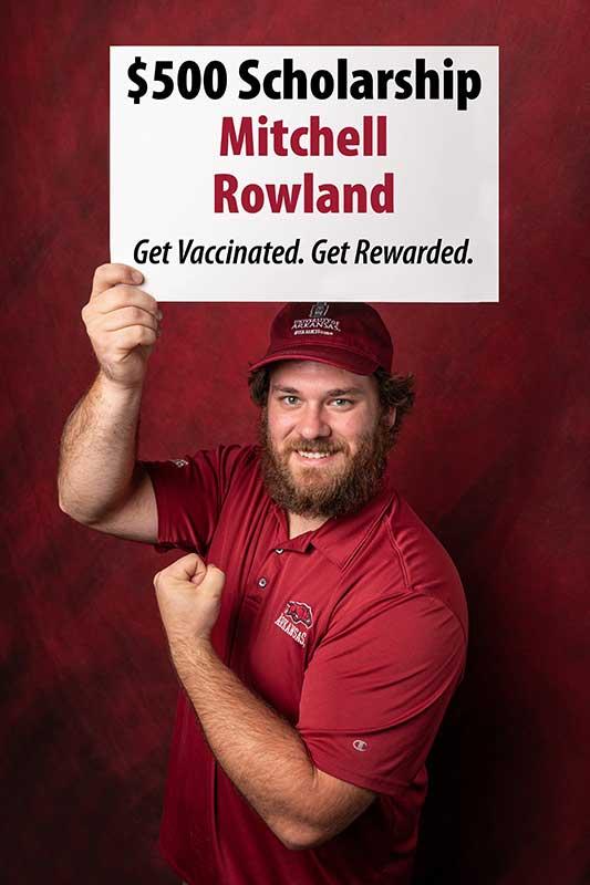 Mitchell Rowland won a $500 scholarship