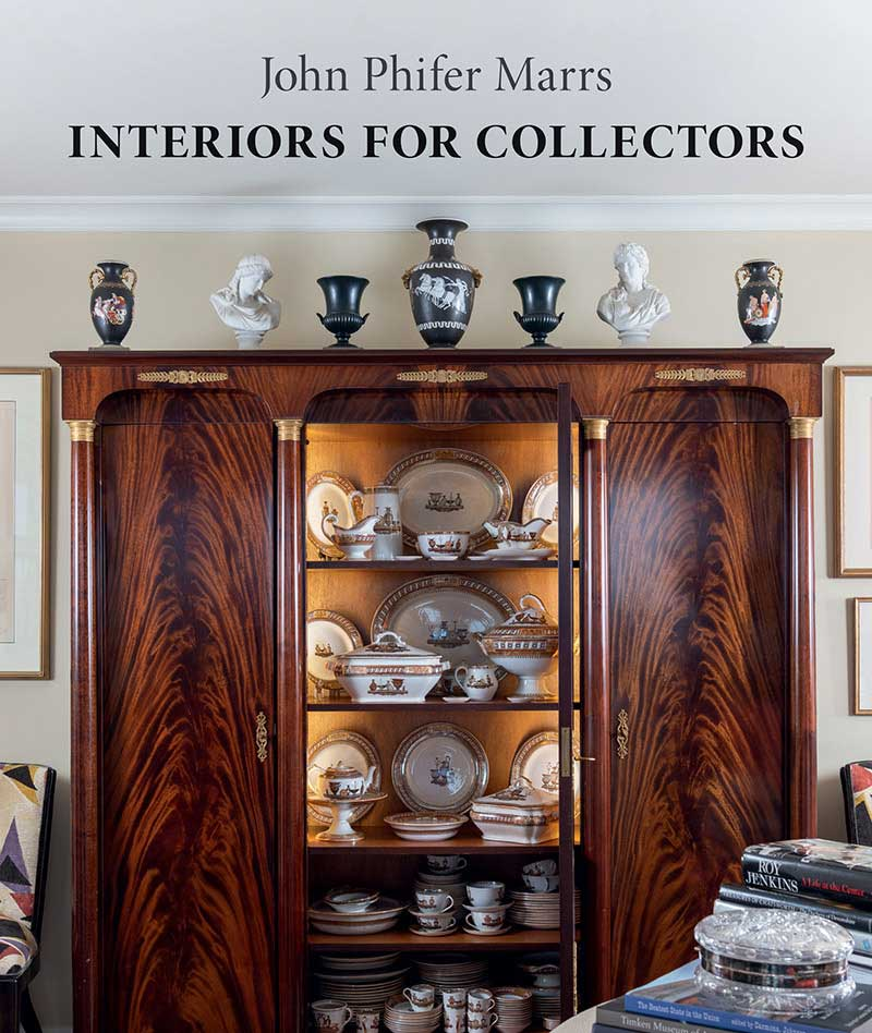 """The cover of """"Interiors for Collectors"""""""