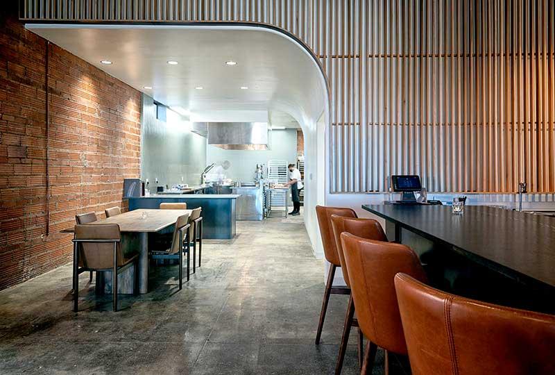 Interior of La Nicolette restaurant in Lubbock, Texas