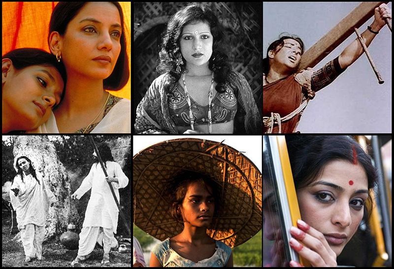 Still images from six Indian films