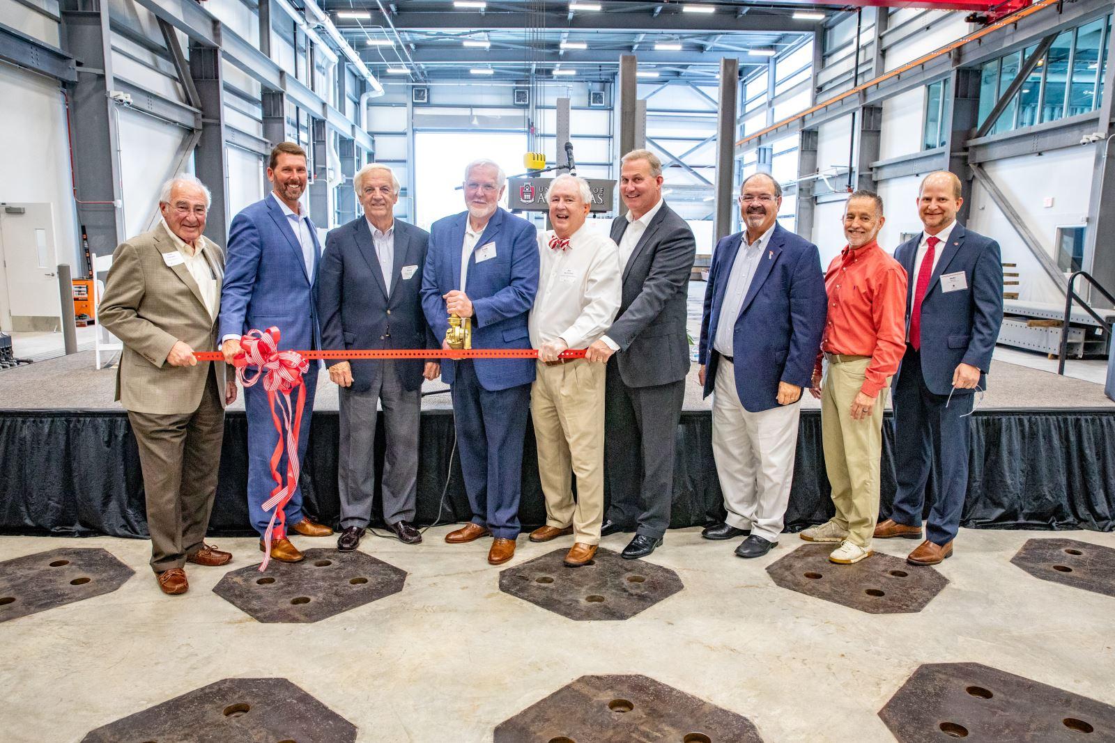 (Left to right) Gus Vratsinas, Scott Bennett, Dan Flowers, Grady Harvell, Jim McClelland, John Burkhalter, Bert Parker, Dan Williams and Andy Davis