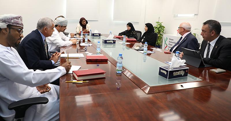 Members of the Oman Research Council meet with Douglas Rhoads and Adnan Alrubaye.