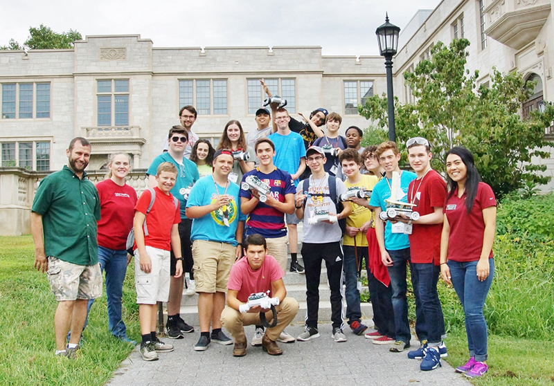 Photo of Engineering Summer Academy at Ozark Hall at University of Arkansas.