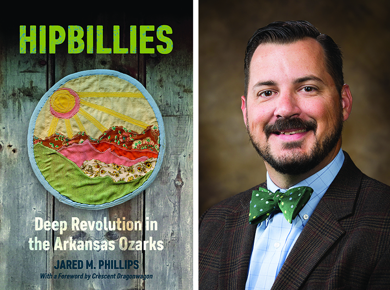 Cover of the book HipBillies and a photo of author Jared Phillips.