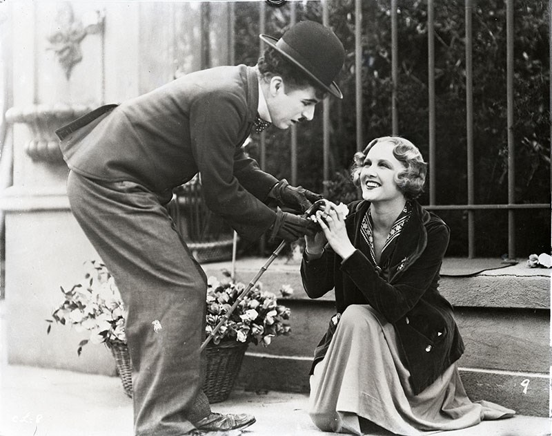 Charlie Chaplin and Virginia Cherrill in City Lights. Used by permission, City Lights © Roy Export S.A.S.