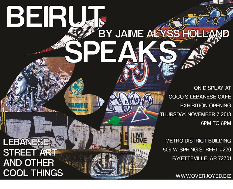 Beirut calligraffiti, based on Arabic letters and calligraphy is claimed to be the first of its kind in the world.