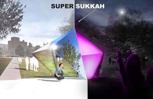 "The Super Sukkah was among the designs selected in the competition, ""Sukkah City STL 2014: Between Absence and Presence."""