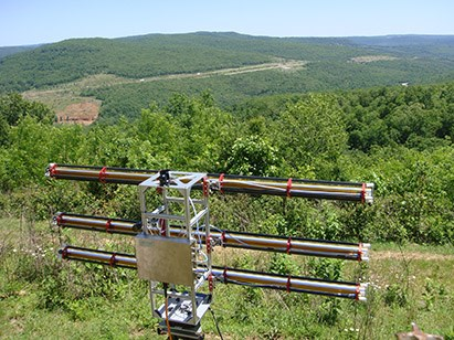 Gamma Remote Sensing Ground-based Portable Radar Interferometer.jpg – This portable, radar interferometer will help researchers detect areas at risk for mudslides and rock falls following wildfires.