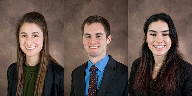 Gates Cambridge finalists: (l-r) Kimberly Cribbs, Ryan DuChanois, Kristen Kent.