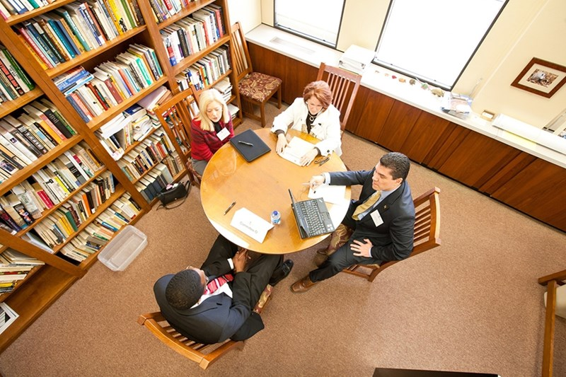 The fellowship selection process includes an on-campus interview with Honors College faculty.