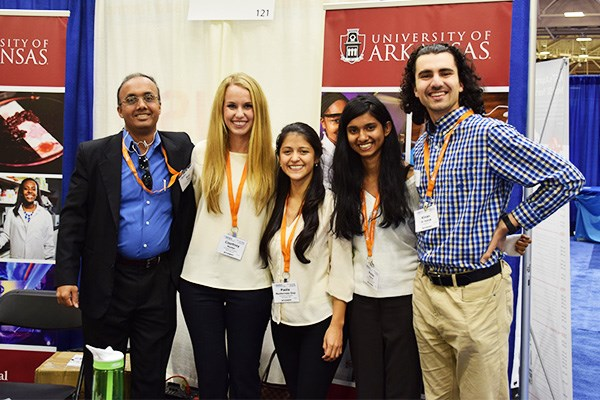 Dr. Raj Rao and students Courtney Hunter, Paola Monterroso-Diaz, Raisa Rasul and Kinan Alhallak at the 2016 BMES Annual Meeting.