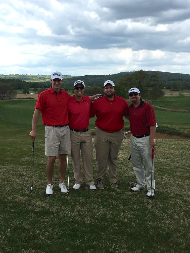 One of the teams from the 2016 Student Bar Association Golf Scramble.