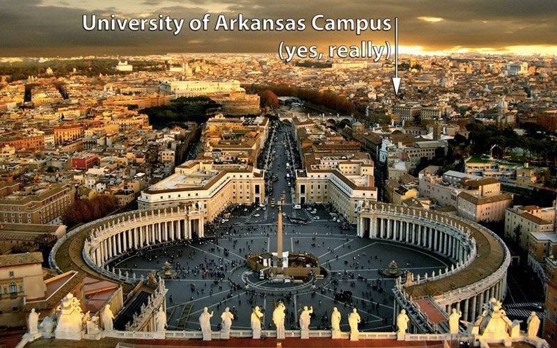 The University of Arkansas Rome Center is just minutes from some of the most important architectural and cultural sites in the Western world.