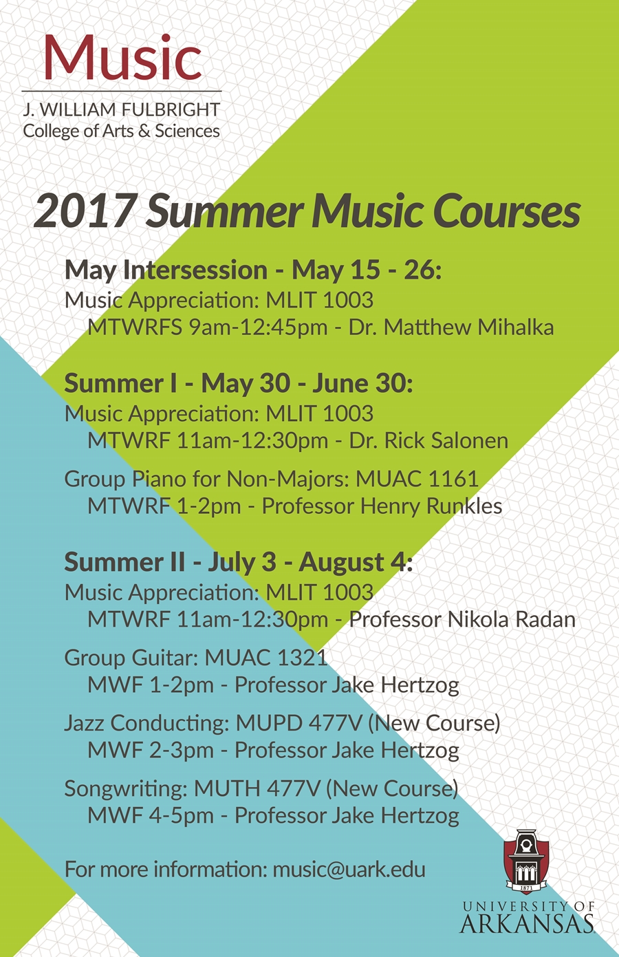 music coursework The goal of the conducting course is to teach you all the skills you need to serve as music director in your ward or branch and to teach others how to conduct.