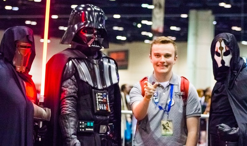 Joel Robinson and cosplayers at Star Wars Celebration.