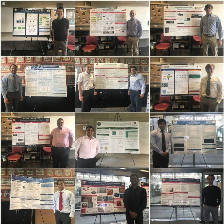 Students present summer research during poster session.