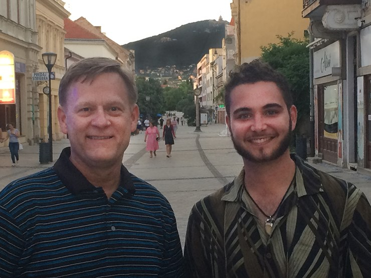 Professor Bruce Ahrendsen and graduate student Matthew Coale at the Slovak University of Agriculture in Nitra, Slovakia.