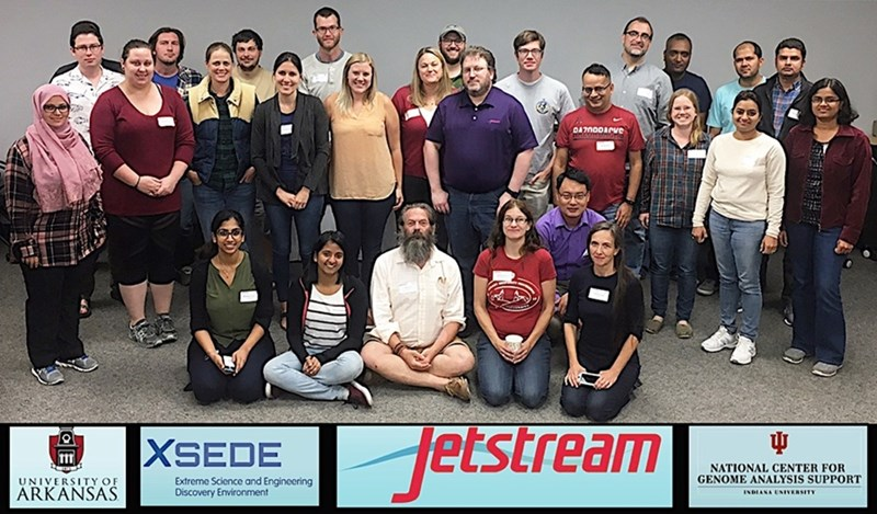 Some of the participants in the Jetstream workshop held Sept. 11-12.
