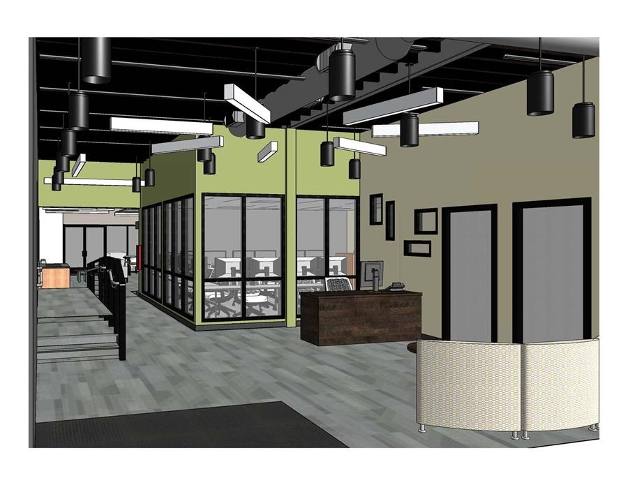 An Interior View Of The Entry Area Inside New University Arkansas Brewer Family Entrepreneurship