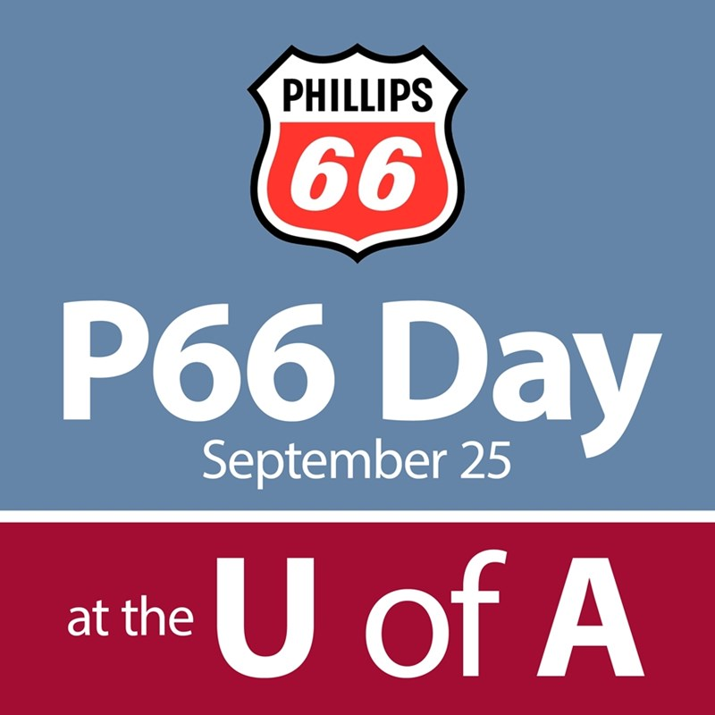 Students are encouraged to attend Phillips 66 Day on the University of Arkansas campus on Sept. 25.