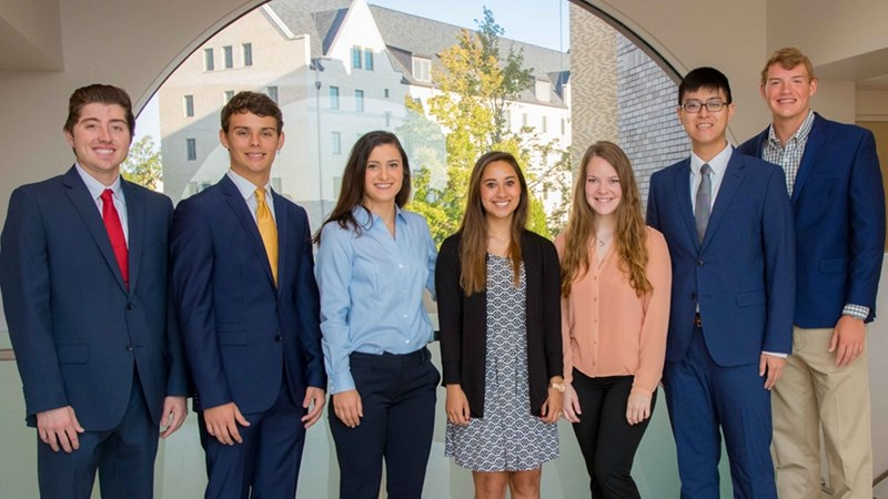 Leadership Walton Executive Committee members Andrew Bickford, Connor Mackey, Mariam Bartlett, Mia Norton, Molly Tyler, Aaron Zhou and Bailey Beykirch. Not pictured: Kelsie Stone.