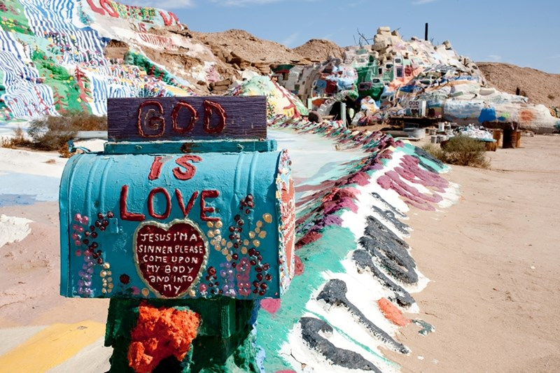 "Leonard Knight spent three decades on a labor of love -- building and painting ""Salvation Mountain"" in California's Imperial Valley desert."