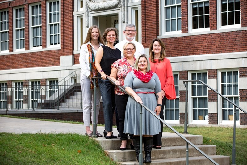 From left, Lynn Koch, Suzanne Kucharczyk, Ed Bengtson, Peggy Schaefer Whitby, Johanna Thomas and Kimberly Frazier make up the interdisciplinary team that will focus on transition services. Kristi Perryman is not pictured.