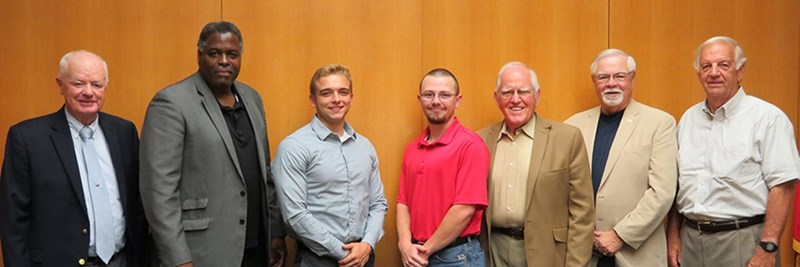 From left, Jack Buffington, Emanuel Banks, Kevin Weston, Colton Horn, Bob Crafton, Harold Beaver, and Dan Flowers.