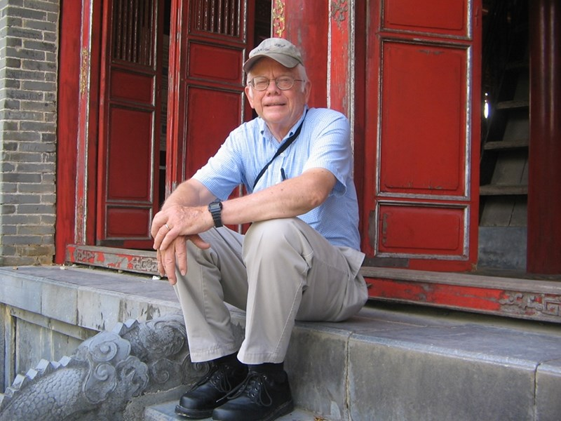 Don Voth at a gate of the ancient Vietnamese Imperial Palace in Hue.