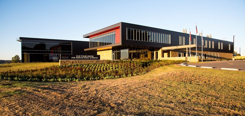The University of Arkansas System Division of Agriculture dedicated the Don Tyson Center for Agricultural Sciences Thursday, Nov. 16, at the Arkansas Agricultural Research and Extension Center in Fayetteville.