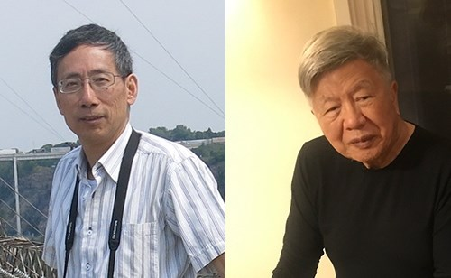 l-r: Kaiyuan Chen and professor emeritus Fui T. Chan