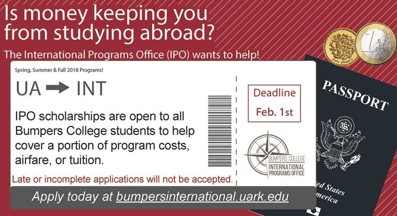 If you are interested in Bumpers College study abroad opportunities and scholarship assistance, check out upcoming application deadlines.
