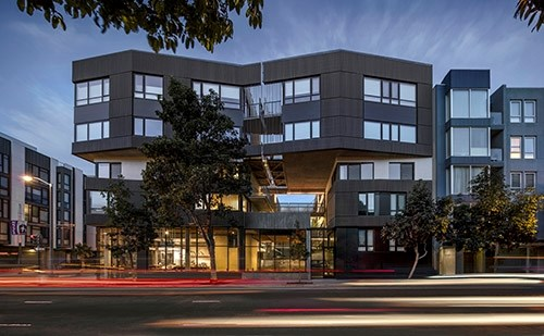 400 Grove Street is a 34-unit mixed-use development in the heart of Hayes Valley, San Francisco. The project has received a 2016 American Architecture Prize, among other accolades.