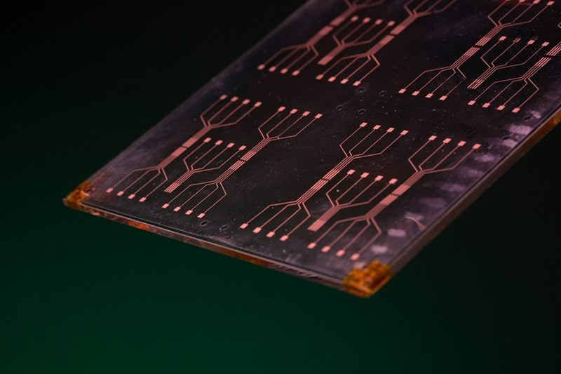 Researchers are developing a new material that could improve processing speed of sensors and other electronic components. Photo by Unversity Relations.