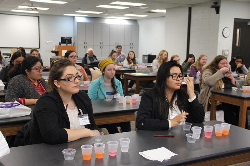 Around 60 high school girls from around the state got a taste of food science and other Bumpers College research, labs and potential careers during their visit to campus in February.