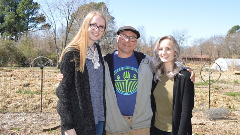 From left, Laura Gray, Don Bennett and Sarah Gould at Tri Cycle Farms.