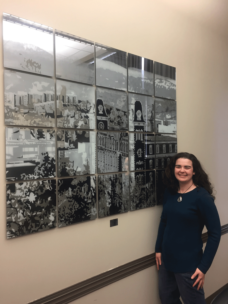 Shelby Fleming, a first-year Master of Fine Arts candidate, created two pieces of art for the Arkansas Union Razorback Tradition artwork contest.