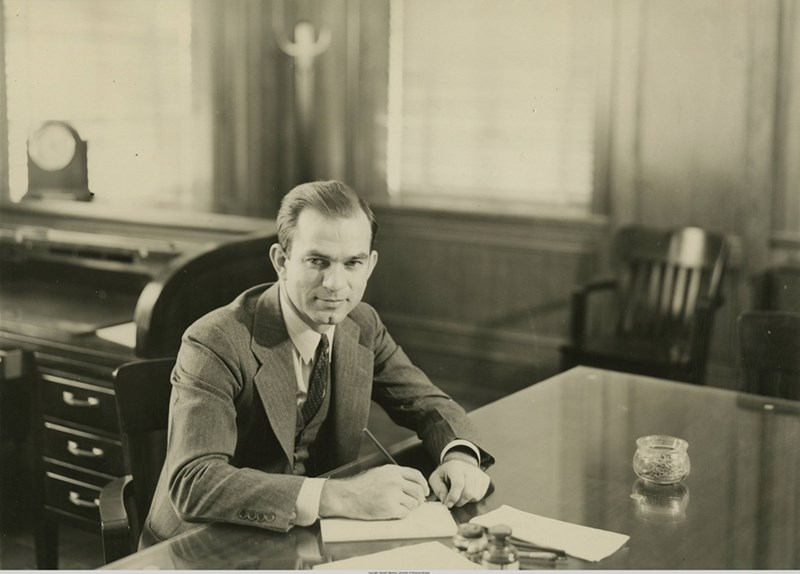 J. William Fulbright during his time as president of the U of A.