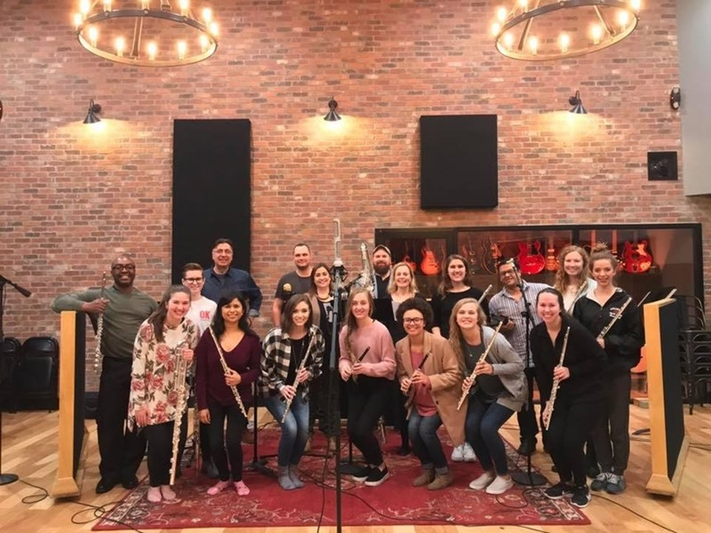 The U of A Flute Ensemble at Haxton Road Studios.