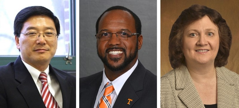 Three candidates will interview for vice provost for research and innovation, from left in order of their visits to campus: Daniel Sui, Robert Nobles II, and Lynne Parker.