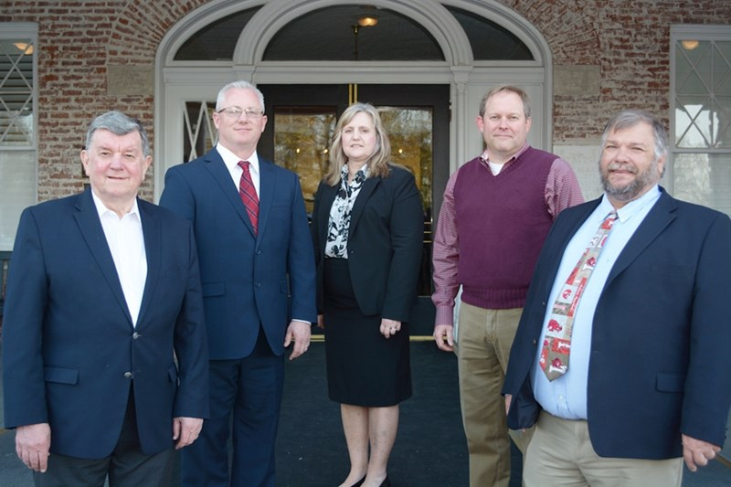 From left to right: New Arkansas Academy of Chemical Engineers members Jon Keel, Mark Crawford, Tina Gilliland, Bill Shelton and Tony Dean Freeman.