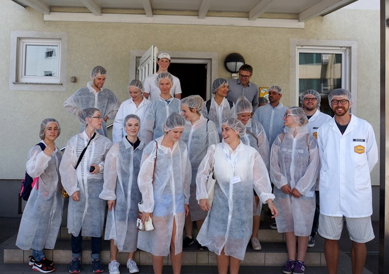 "Students in the Department of Food Science's ""Arkansas Food Industries and Culinary Traditions"" summer course."