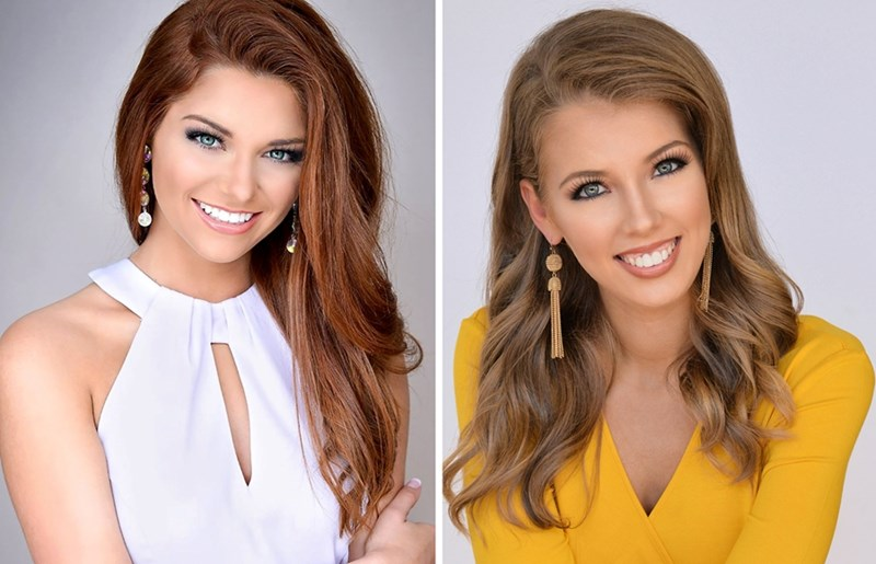 Bumpers College students competing in the Miss Arkansas Scholarship Pageant were Darynne Dahlem (animal science), left, and Reagan Grubbs (agricultural and extension education).