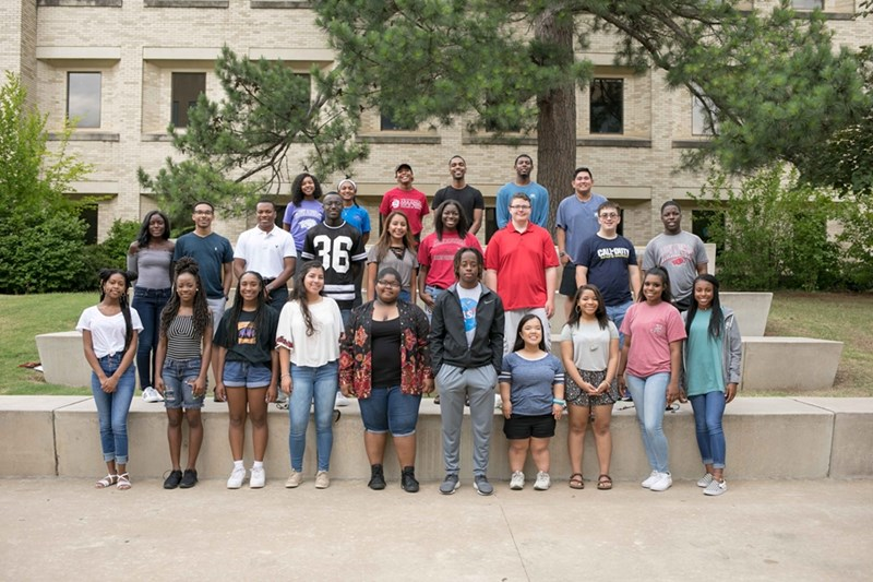 Walton College hosts 19 high school students at the Accounting Career Awareness Program to introduce accounting and business careers available to them.