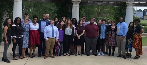 The 2018 cohort of Arkansas Teacher Corps fellows and staff members gather at the close of Summer Institute teacher training held at Arkansas State University.