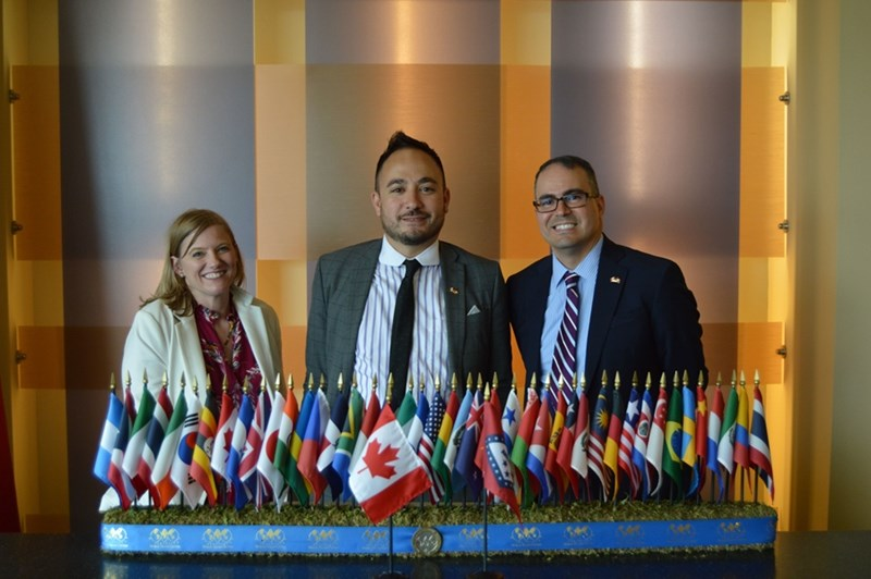 l-r: Foreign Policy and Diplomatic Service Officer Amy Goudar, Consul and Trade Commissioner Delon Chan and Melvin Torres, director of Western Hemisphere trade for the World Trade Center Arkansas.