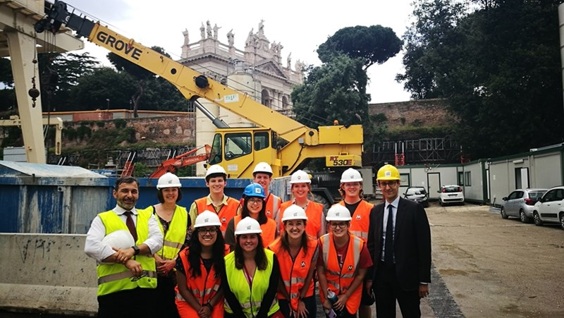 Tish Pohl and her engineering students learned from engineers excavating Rome's subway lines